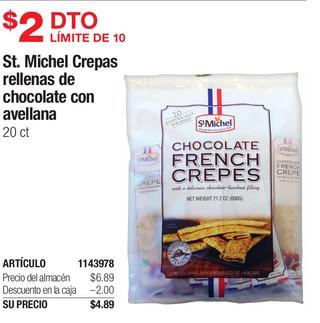 St. Michel Crepas Rellenas de Chocolate Con Avellana