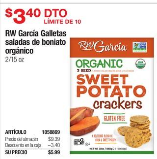 RW García Galletas Saladas de Boniato Orgánico