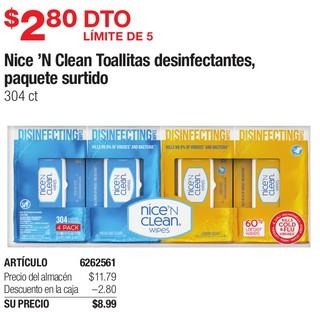 Nice' N Clean Toallitas Desinfectantes