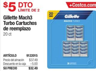 Gillette Mach3 Turbo Cartuchos de reemplazo