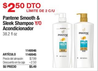 Pantene Smooth & Sleek Shampoo Y/O Acondicionador