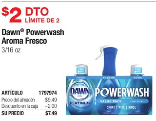 Dawn Powerwash Aroma Fresco