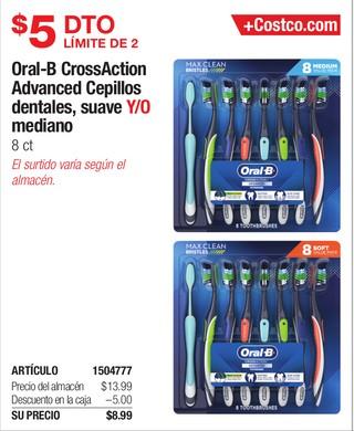 Oral-B CrossAction Advanced Cepillos dentales, suave Y/O Mediano