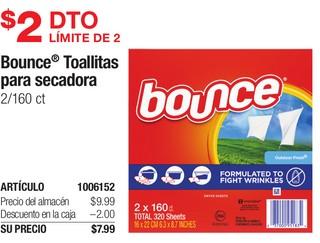 Bounce Toallitas para secadora