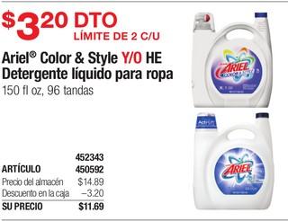 Ariel Color & Style Y/O HE Detergente líquido para ropa
