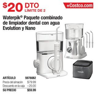 Waterpik Paquete combinado de limpiador dental con agua Evolution y Nano