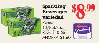 Sparkling Beverages Variedad Perrier 10/8.45 oz