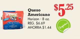 Queso Americano Horizon - 8 oz