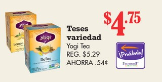 Teses Variedad Yogi Tea