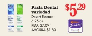 Pasta Dental Variedad Desert Essence