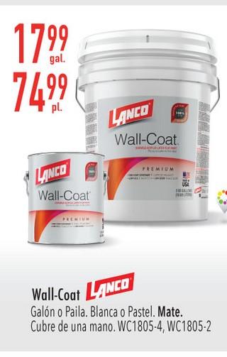 Wall-Coat Lanco Blanca o pastel