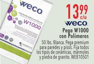 Weco Pega W1000 con Polímeros