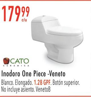 Inodoro One Piece- Veneto Blanco Elongado