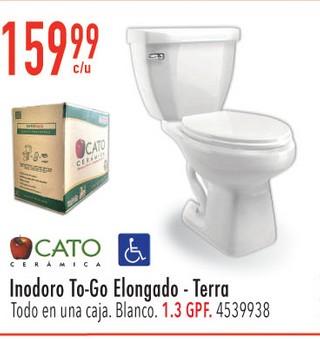 Inodoro To-Go Elongado-Terra