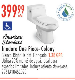 Inodoro One Piece-Colony Blanco