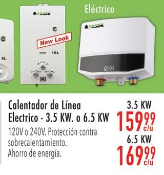 Calentador de Línea Electrico