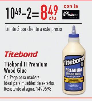 Titebond II Premium Wood Glue QT
