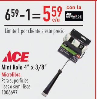 Mini Rolo 4'' x 3/8'' Microfibra para superficies lisas o semi-lisas