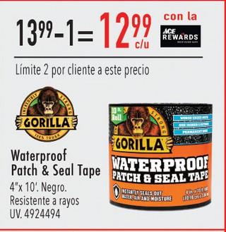 Waterproof Patch & Seal Tape 4'' x 10'