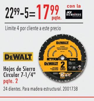 Hojas de Sierra Circular 7-1/4''