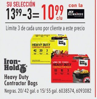 Heavy Duty Contractor Bags Negras