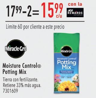 Moisture Control Potting Mix Tierra con Fertilizante