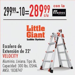 Escalera de Extensión de 22' Velocity Aluminio