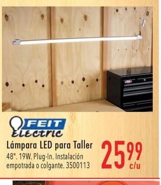 Lámpara LED para Taller 48''. 19W. Plug-In.