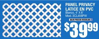 Panel Privacy Latice en PVC