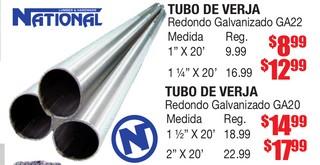 Tubo de Verja