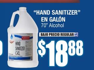 """""""Hand Sanitizer"""" En Galón"""