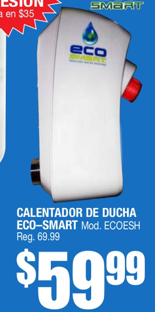 Calentador de Ducha Eco-Smart