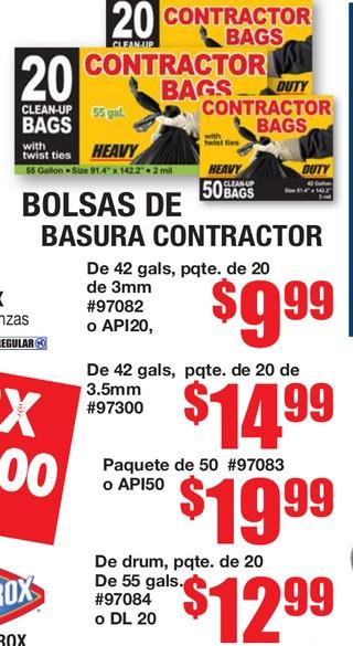 Bolsas de Basura Contractor