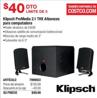 Klipsch ProMedia 2.1 THX Altavoces para Computadora