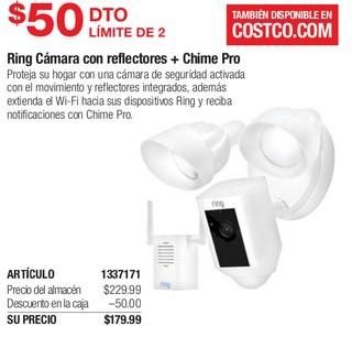 Ring Cámara con Reflectores + Chime Pro