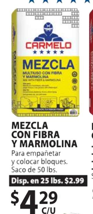 Mezcla con Fibra y Marmolina