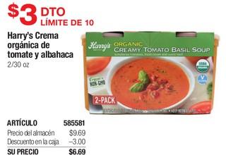 Harry's Crema Orgánica de Tomate y Albahaca