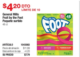 General Mills Fruit By The Foot Paquete Surtido