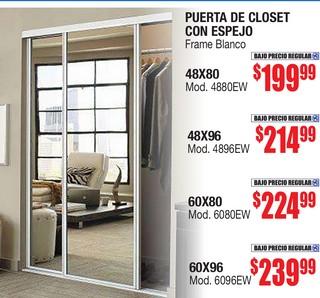 Puerta de Closet con Espejo