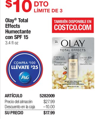 Olay Total Effects Humectante con SPF 15
