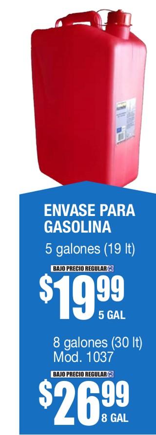 Envase para Gasolina