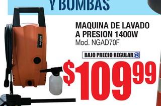 Máquina de Lavado a Presión 1400W