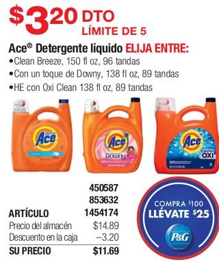 Ace Detergente Líquido