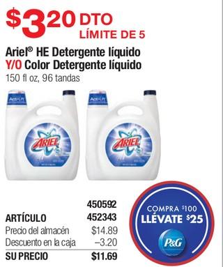 Ariel HE Detergente Líquido Y/O Color Detergente Líquido