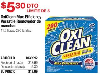 OxiClean Max Efficiency Versatile Removedor de Manchas