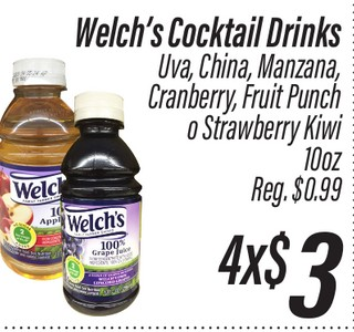 Welch's Cocktail Drinks