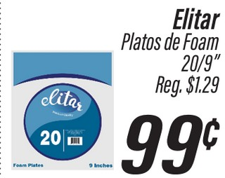 Elitar Platos de Foam
