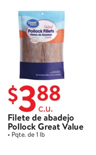 Filete de Abadejo Pollock Great Value