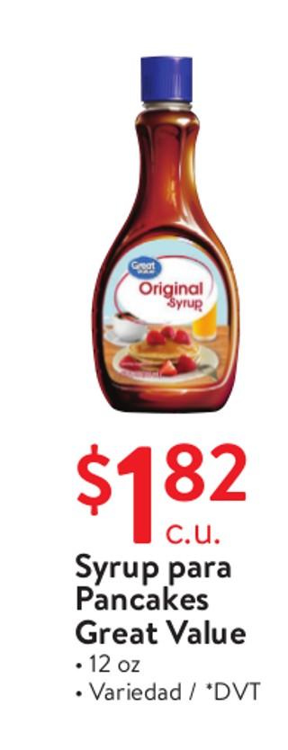 Syrup para Pancakes Great Value