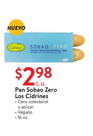 Pan Sobao Zero Los Cidrines